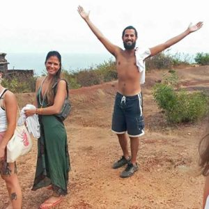 Shanti Yoga School - 200 Hour Yoga Teacher Training - Group at Temple Gokarna India