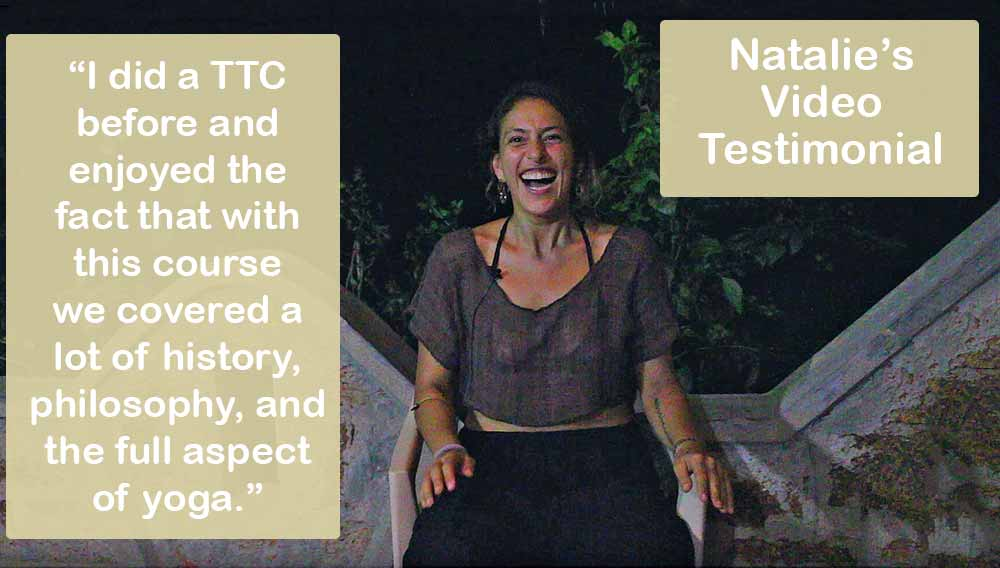 Shanti Yoga School 200 Hour Yoga Teacher Trainings - Video Testimonials Natalie