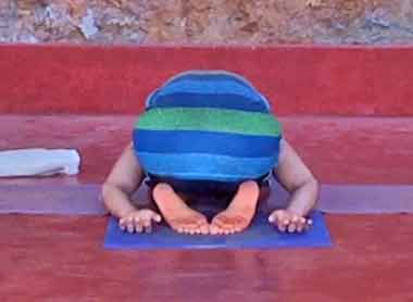 Shanti Yoga Teacher Training - Child's Pose Variation - Back View