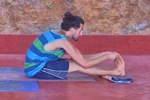 Shanti Yoga Teacher Training - Seated Forward Bend - Side View