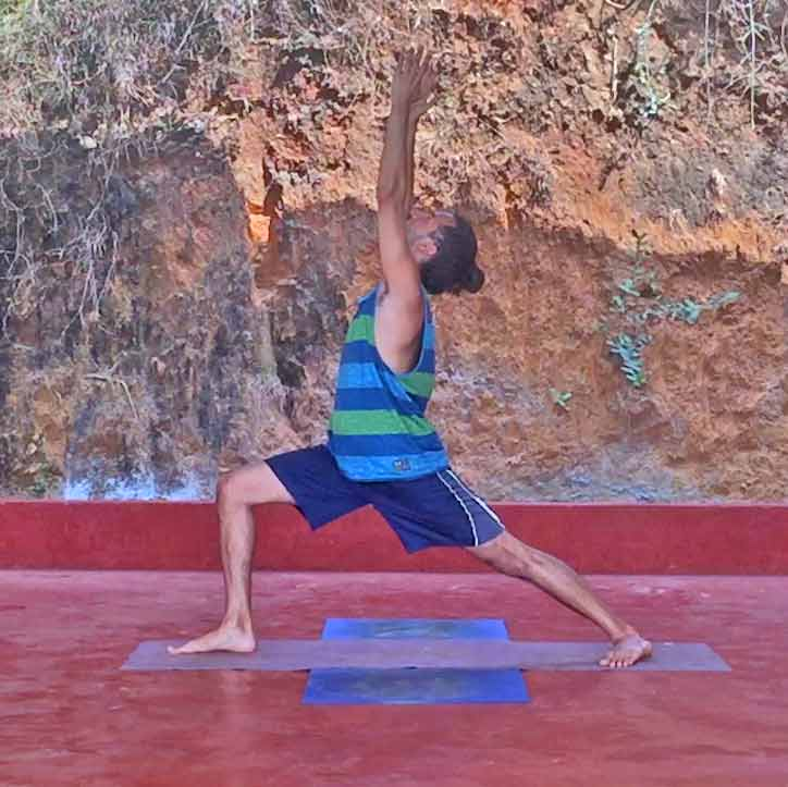 Shanti Yoga Teacher Training - Warrior I Pose