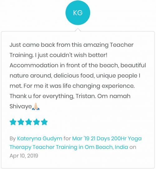 Shanti Yoga School - 200 Hour Yoga Teacher Training - WeTravel - Katryna's Review